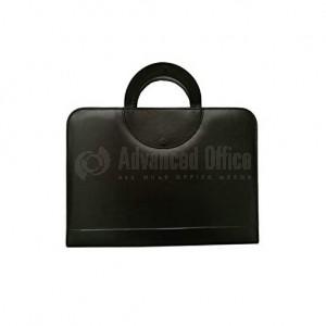 Porte folio BOND avec poignée & Calculatrice, Noir