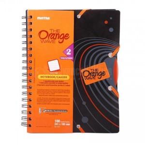 Cahier à spirale MINTRA ORANGE WAVE 23*27.9 200 Pages 1 Intercalaire