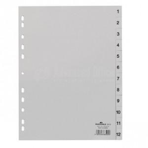 Intercalaire DELUXE A4 1-12 Gris
