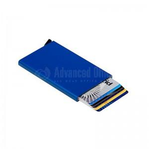 Porte carte magnétique à mécanisme en Métal Bleu