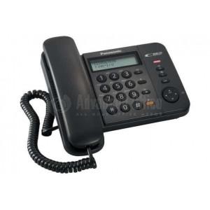 Téléphone PANASONIC KX-T580 avec afficheur + Haut parleur Noir