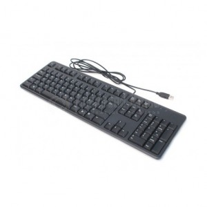 Clavier Multimedia DELL KB216-B, USB, Azerty, Noir