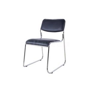 Chaise visiteur luge en simili cuir sans accoudoir