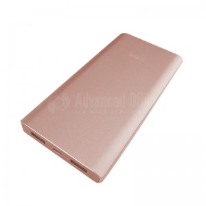 Power Bank TIMI Metal Shell T005, 10 000 Mah, 2 USB, Micro USB, Gold  -  Advanced Office