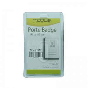 Porte badge Dur Vertical 55 x 85 mm MODUS