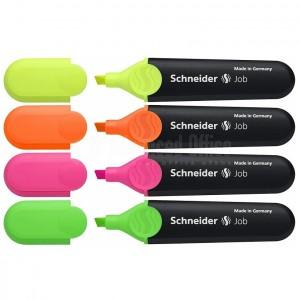 Jeu de 4 marqueurs fluorescents SCHNEIDER Job Advanced office