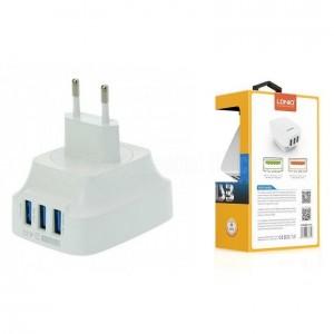 Chargeur adaptateur LDNIO 3 USB sans Câble  pour téléphone portable