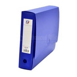 Boite d'archive CV en polypropylène bleu, dos 60 avec étiquette autocollante