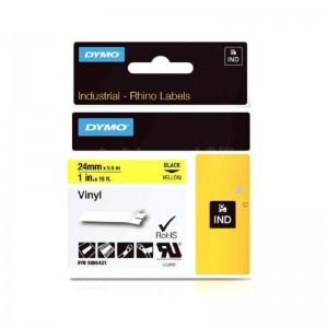 Recharge DYMO Rhino Label 24mm x 5.5m Noir-Jaune  -  ADVANCED OFFICE