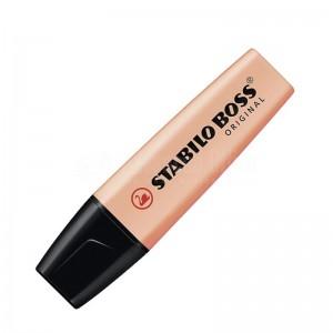 Marqueur fluorescent STABILO Boss Original Pastel 2.0-5.0mm Teint de pêche (Orange) Advanced Office