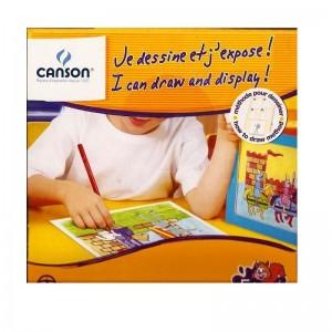 Kit CANSON Je dessine et j'expose Chevaliers, 4 Feuilles 18 x 24cm, Cadre en carton, pochoir  -  ADVANCED OFFICE