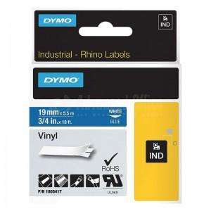 image.Recharge DYMO Rhino 5200 19mm x 5.5m blanc-Bleu - Advanced Office