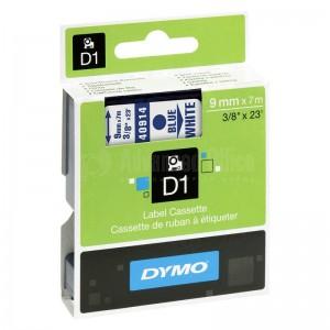 Recharge DYMO D1 pour Label Manager 9mm X7m bleu/Blanc Advanced Office