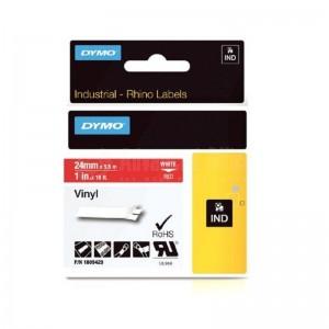 Recharge DYMO Rhino Label 24mm x 5.5m Blanc-Rouge  Advanced Office