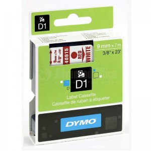 Recharge DYMO D1 pour Label Manager 9mmx7mm rouge/Blanc Advanced Office