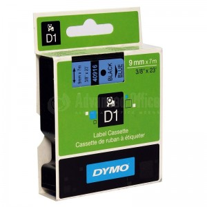 Recharge DYMO D1 pour Label Manager 9mmx7mm noir/Bleu Advanced Office