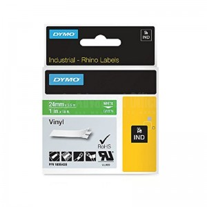 Recharge DYMO Rhino Label 24mm x 5.5m Blanc-Vert Advanced Office