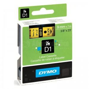 Recharge DYMO D1 pour Label Manager 100+/150 9mm x 7m noir/Jaune Advanced Office