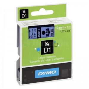 Recharge DYMO D1 pour Label Manger 100+/150 12mm x 7m noir/Bleu Advanced Office