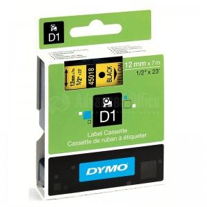 Recharge DYMO D1 pour Label Manger 100+/150 12mm x 7m noir/Jaune Advanced Office