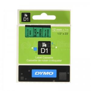 Recharge DYMO D1 pour Label Manger 100+/150 noir/Vert  Advanced Office