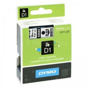 Recharge DYMO D1 pour Label Manager 19mmx7m noir/Blanc Advanced Office