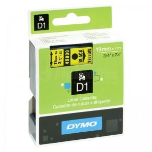 Recharge DYMO D1 19mm x 7m Noir/Jaune Advanced Office