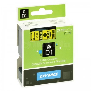 Recharge DYMO D1 24mm x 7m Noir/Jaune Advanced Office