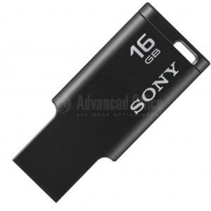 Flash disque SONY Micro Vault Tiny 16Go USB 2.0 Noir Advanced Office