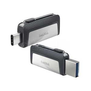 Flash Disque SANDISK  ultra double lecture pour Smart Phone Type C 2.0, 32GO Advanced Office