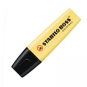 Marqueur fluorescent STABILO Boss Original Pastel 2.0-5.0mm crème de jaune  -  Advanced Office