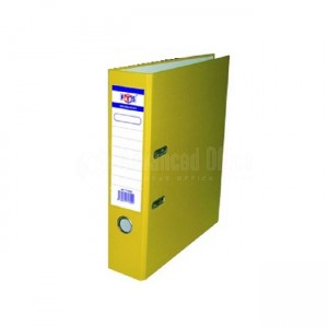 Classeur chronos FABS en PVC jaune avec perforateur - Advanced Office