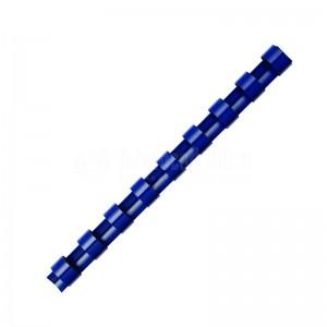 Boite de 25 spirale FELLOWES à 21 anneaux 6 mm Bleu