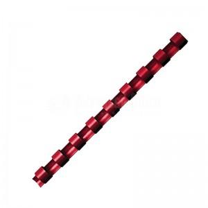 Boite de 25 spirale FELLOWES à 21 anneaux 6 mm Rouge