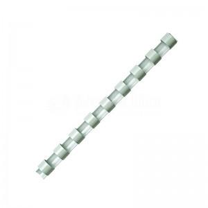 Boite de 25 spirale FELLOWES à 21 anneaux 10 mm Blanc