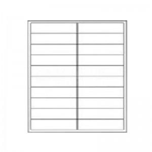 Rame de 400 étiquettes autocollants GALAXIE A4 , 4 étiquettes 20 feuilles - Advanced Office