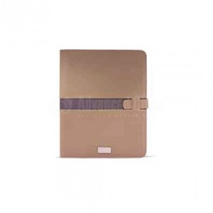 Porte folio A4 avec bloc note et calculatrice RIDEX Beige