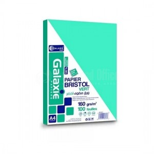 Rame de papier bristol GALAXIE A4 160g 100 feuilles Saumon  -  Advanced Office