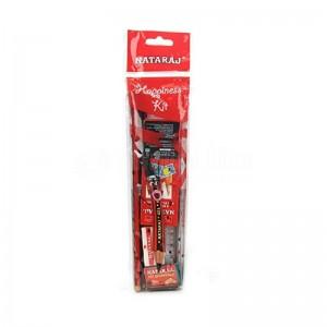 Pack NATARAJ Crayons Noir Triga + Taille crayon + Gomme + Règle