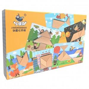 Jeux éducatif XHN-0047 Cadre Créative Puzzle Géométrie en bois  -  Advanced Office