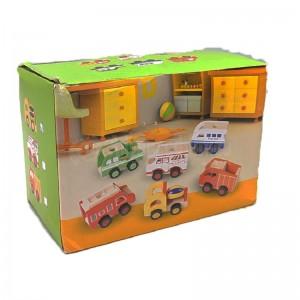 Jeux éducatif Mini Véhicule (camion bétonnière) en bois port stylo pour enfant