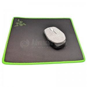 Tapis de souris 260 x 210 x 3mm Logo Razer Noir avec Bordures Vert