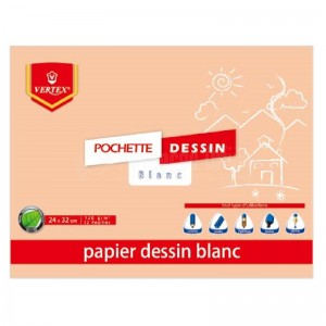 Pochette de papiers à dessin VERTEX VP-014 Blanc  -  Advanced Office