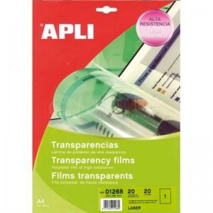 Rame étiquettes transparentes pour impression laser APLI  -  Advanced Office