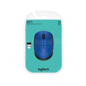 Souris optique sans fil LOGITECH M171 USB Bleu  -  Advanced Office
