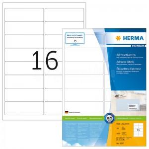 Rame autocollants HERMA 1600 étiquettes  -  Advanced Office