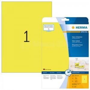 Rame étiquettes fluoresantes HERMA A4 jaune  -  Advanced Office
