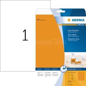 Rame étiquettes fluoresante HERMA A4 Orange  -  Advanced Office