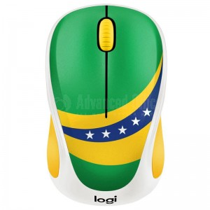 "Souris sans fil LOGITECH M238 ""Fan Collection"" Brésil"