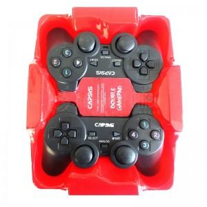 Manette de jeux CAPSYS GS809 Double, Vibrante, USB